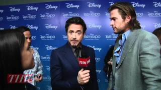 Robert Downey Jr. and Chris Hemsworth: The Avengers
