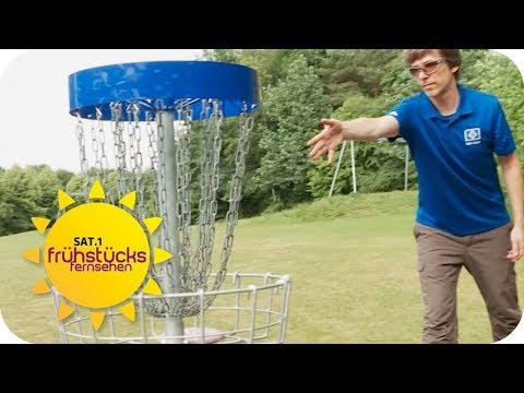 Neuer Trend-Sport mit 100 km/h: Disc Golf | SAT.1 Frühstücksfernsehen | TV
