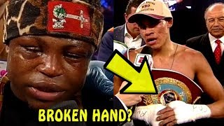 Emanuel Navarrete with injured hand defeats Isaac Dogboe | New Champ!