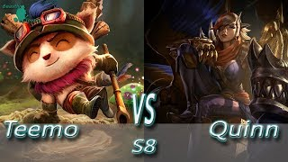 League of Legends - Teemo vs Quinn - S8 Ranked Gameplay (Season 8)