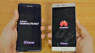 Samsung Galaxy Note 7 vs Huawei P9 Plus - Speed Test! (4K)