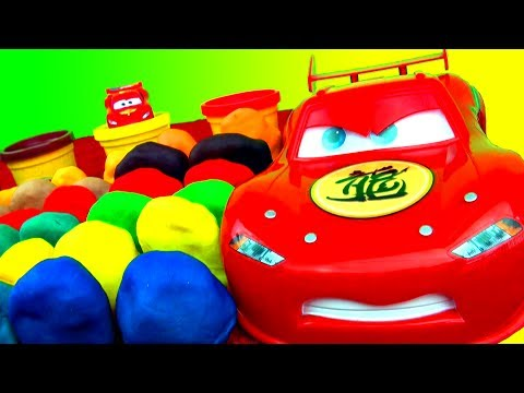 30 Surprise Eggs Play-Doh Surprise Egg Toys Disney Cars Angry Birds Spongebob Spiderman Play-dough!
