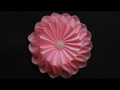 Цветы из атласных лент своими руками мастер класс для начинающих канзаши 6