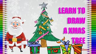 How to Draw a Christmas Tree|Events|Fun Colour Art
