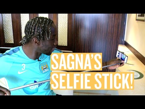 SELFIE STICK'S & BREAKING BAD | What's in Bacary Sagna's Suitcase?