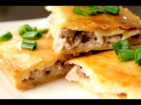 Куриный пирог с сливочным соусом