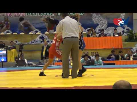 2012 Junior Worlds - FW 55kg - Sarah Hildebrandt (USA) vs. Elena Turcan (MDA)