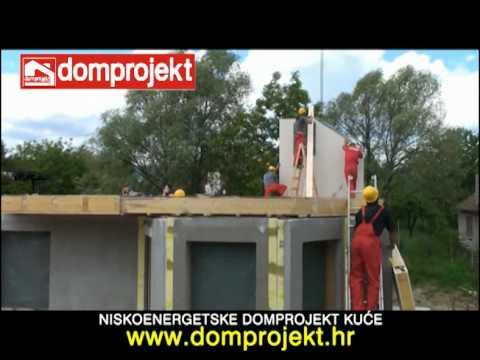 Niskoenergetske montažne kuće Domprojekt - prikaz montaže