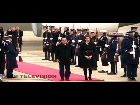 Francois Hollande in US with Obama, not Valerie Trierweiler