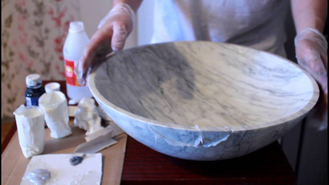 Реставрация керамической раковины своими руками