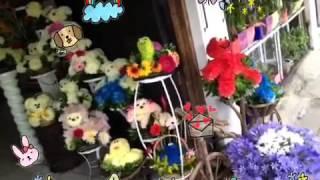 Arreglos florales, personajes hechos con flores. En Oaxaca
