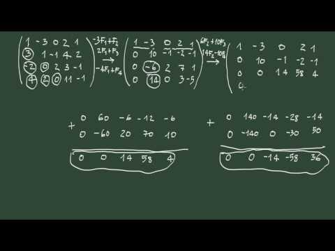7. Rango de una matriz: definición y cálculo mediante el método de Gauss