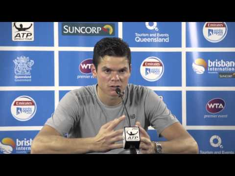 Milos Raonic press conference (final) - Brisbane International 2015