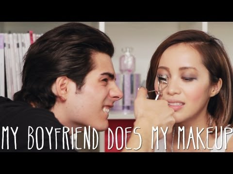 Boyfriend does my makeup challenge