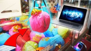 WON FROM THE MACBOOK MYSTERY BAG CLAW MACHINE!