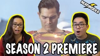 Supergirl SEASON 2 PREMIERE Episode 1 The Adventures Of Supergirl REACTION/REVIEW