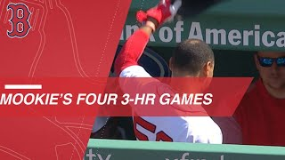Betts becomes youngest to notch 4 career 3-HR games