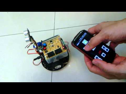 手機遙控車(雙向溝通) = Motoduino + Arduino Interactive Shield + Bluetooth + Android + Car Music Videos