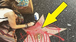 Paris Jackson CLEANS Michael Jackson's DEFACED Hollywood Star!