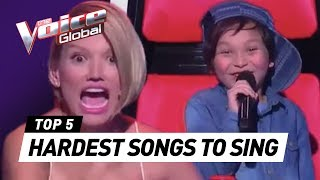 HARDEST songs to sing in The Voice Kids
