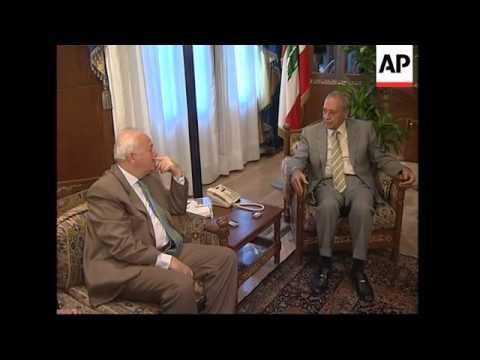 Arab, European envoys hold talks with Lebanese leaders