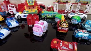 Robocar Poli & Mc Queen Car Collection || TOYS KID