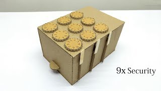 How to Make A Safe Locker From Cardboard With 9 Combination Lock