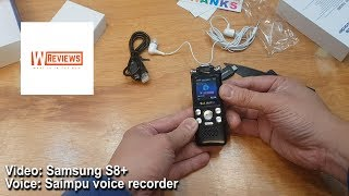 A budget no frills Saimpu 8GB digital voice recorder for less than £25