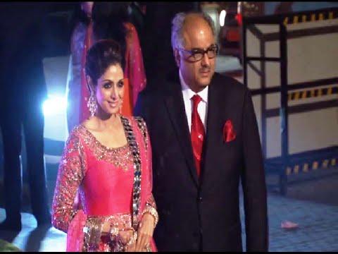 Sridevi at Manish Malhotra's niece Riddhi Malhotra's wedding reception.