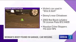 Woman's body found in west Houston garage, car missing