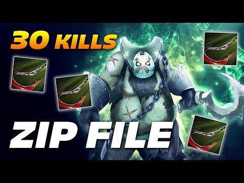 ZIP FILE PUDGE 30 KILLS OWNAGE | Dota 2 Pro Gameplay