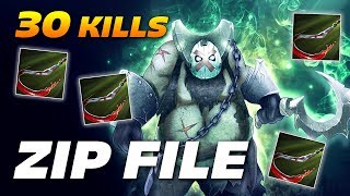 ZIP FILE PUDGE 30 KILLS OWNAGE | Dota 2 Pro Gameplay