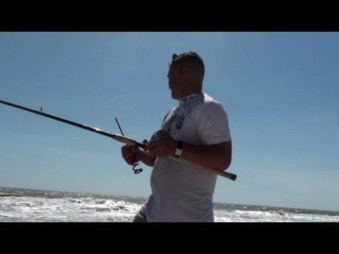 Matagorda Part 2 surf fishing for redfish, croaker and shark