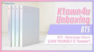 [Ktown4u Unboxing] BTS - Repackage album [LOVE YOURSELF ANSWER](First Press) 방탄소년단 언박싱