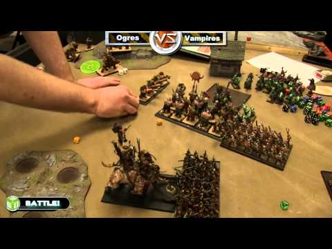 Ogres vs Vampires Warhammer Fantasy Battle Report   Fantasy League Ep 19