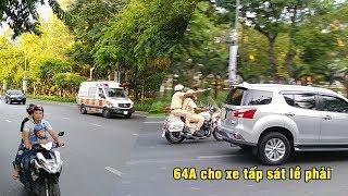 Cực hiếm CSGT đánh võng mở đường đoàn xe cứu thương về bệnh viện Chợ Rẫy- police escort ambulance