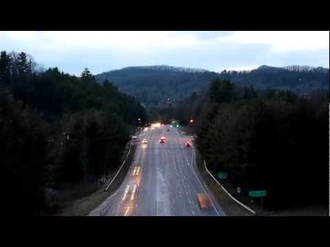 Time Lapse - Traffic at Night in Spruce Pine, NC