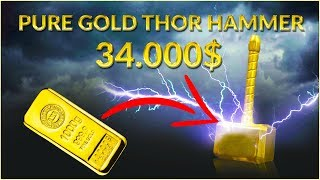 Casting $34,000 MINI Thor's Hammer from SOLID GOLD