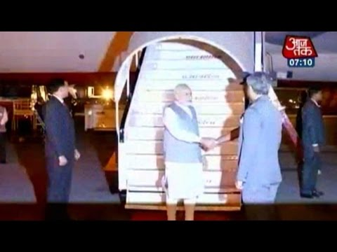 PM Modi Arrives In New Delhi After Trip To Sri Lanka