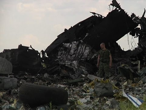 Raw: Military Plane Shot Down in Ukraine
