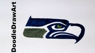 Drawing: How To Draw the Seattle Seahawks Logo