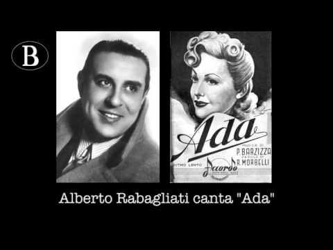 """Pippo Barzizza e i suoi cantanti. Alberto Rabagliati canta """"Ada"""". Orchestra Cetra, 1943."""