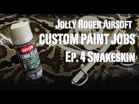 Snakeskin Camo - How to Spray Paint a Gun - Jolly Roger Airsoft TV