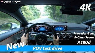 Mercedes A-Class Sedan 2019 A180d - POV test drive in 4K | Acceleration 0 - 100 km/h