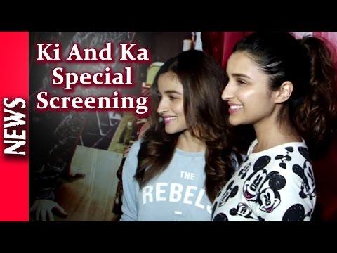 Latest Bollywood News - Alia, Sonam And Parineeti @ Ki And Ka Screening - Bollywood Gossip 2016