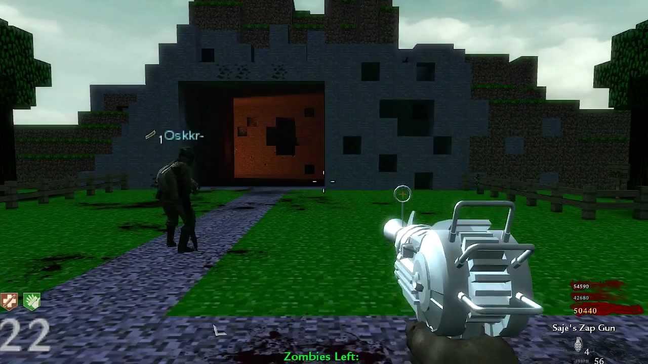 Custom zombies zombiecraft minecraft livegameplay for Zombie build
