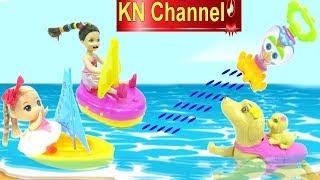 Đồ chơi BẠCH TUỘT KHỔNG LỒ PHUN NƯỚC trong HỒ BƠI BÚP BÊ MINI bath toys for kids Pool Party