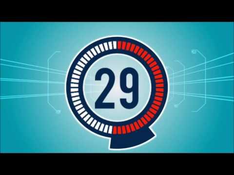 Digital Countdown Motion Graphics Animation