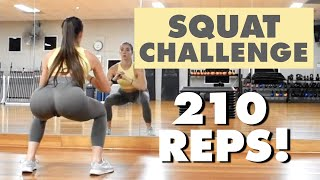 The Best 30 Day SQUAT CHALLENGE for Bigger Butt | Grow Your Booty At Home | No Equipment