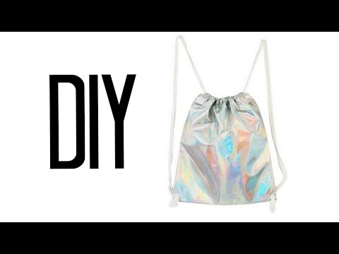 DIY Drawstring Backpack   Make Thrift Buy #22